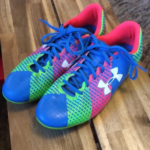 Under Armour Other - Under Armour Force soccer cleats in neon colors